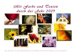 Farben und Texte für 2009