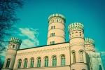Die Türme vom Jagdschloss Granitz auf der Insel Rügen