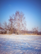 Winterlandschaft um die Ecke