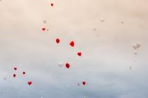 Bunte Wunschluftballons