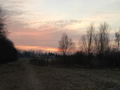 Sonnenuntergänge in den kalten Tag