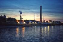 Industrielandschaft, Rhein, Flussschifffahrt, Urlaub, Reisen