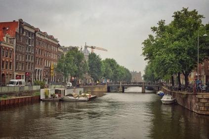 Amsterdam, Grachten, Hausboote, Flussschifffahrt, Urlaub, Holland,