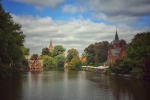 Brügge, Westflandern, Belgien, Urlaub, Flussschifffahrt,