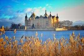 Schlossblick über den Burgsee