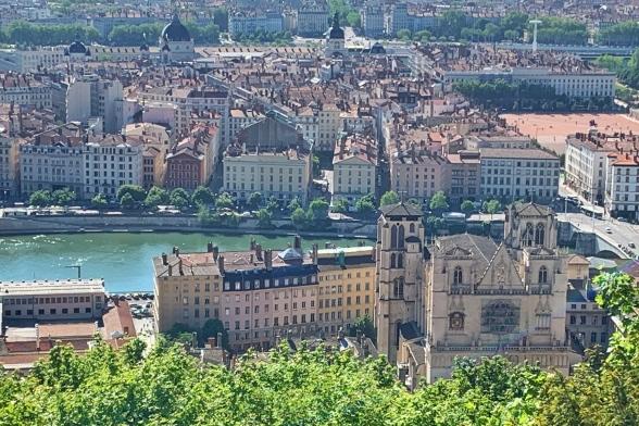 Lyon Blick auf die Saone